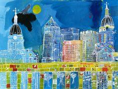 Christopher Tate Art - London Gallery | Christopher Tate Art | Cornish Artist London, Oil Paintings, Gallery, Illustration, Artist, Artwork, Work Of Art, Roof Rack, Auguste Rodin Artwork