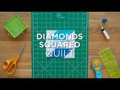 Diamonds Squared Quilt Block - Quilt Snips Mini Tutorial - YouTube