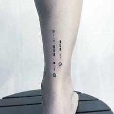 Code Bracelet Letters Printing Education For Kids Printer Product Ankle Tattoo Men, Cute Ankle Tattoos, New Tattoos, Tattoos For Guys, Tattoos For Women, Tatoos, Men Finger Tattoos, Morse Code Tattoo, Morse Code Bracelet