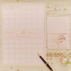 New wedding pastel perfection pink gold guest book poster heart sign keepsake in Home, Furniture & DIY, Wedding Supplies, Guest Books & Pens | eBay