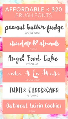 Affordable Brush Lettering Fonts. Hand Painted Fonts With Modern Flare! | angiemakes.com