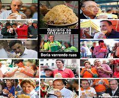 [Novo post] DESIGUALDADE SOCIAL NO BRASIL Sentindo muita pena dos nossos políticos: enquanto operários brasileiros banqueteiam-se em restaurantes (foto), os pobres políticos (fotos) sobrevivem comendo pastéis em botecos. E o prefeito Doria (foto), vest...