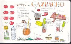 Receta de Gazpacho Gazpacho Recipe www.rafaelobrero.com