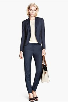 H&M Single-Breasted Blazer, $34.95, available at H&M; H&M Suit Pants, $24.95, available at H&M.