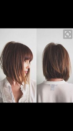 Pretty angles bob and fringe great for fine hair                              …