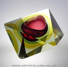 HUGE Murano facet cut glass bowl