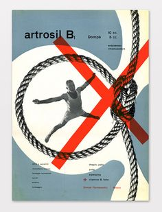 Artrosil B1 by Franco Grignani, 1949 Cliente Dompé Farmacéutica, Italia