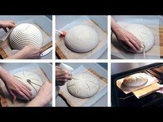 Narezávanie a pečenie kváskového chleba (Scoring) Spelt Flour, Sourdough Bread, How To Make Bread, Make It Yourself, Tableware, Breads, Youtube, Cooking, Brot