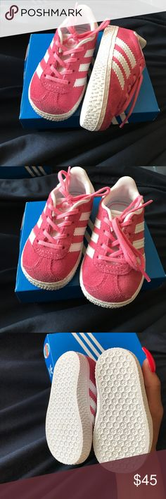 adidas Pink and white baby adidas, no signs of wear. Great condition adidas Shoes Sneakers