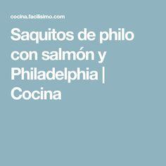 Saquitos de philo con salmón y Philadelphia   Cocina