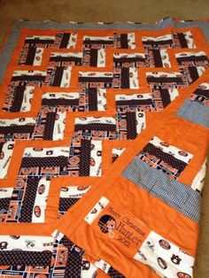 Auburn quilt | The Lazy Quilter | Pinterest | Auburn, Baby fabric ... : college quilt patterns - Adamdwight.com