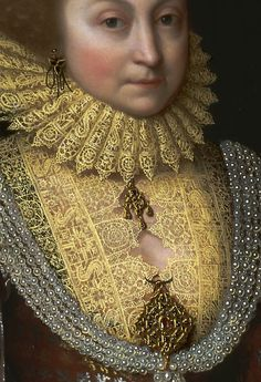 Attributed to Paul van Somer, ca. 1576–1621, Flemish, active in Britain (from 1616), Elizabeth, Countess of Kellie, (detail) ca. 1619, Oil on canvas, Yale Center for British Art, Paul Mellon Collection R