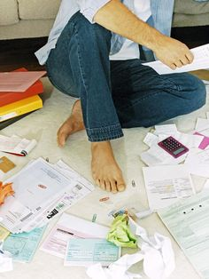 The key to clearing paper clutter and maintaining an organized home is to deal with the paper you receive right away no matter what it is,.