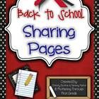 FREEBIE ~ Back to School Sharing Pages for writing and public speaking. You'll never do class sharing the same way again! FREE!