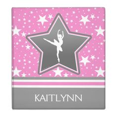 Dancer Among the Stars in Pink with YOUR NAME Binder