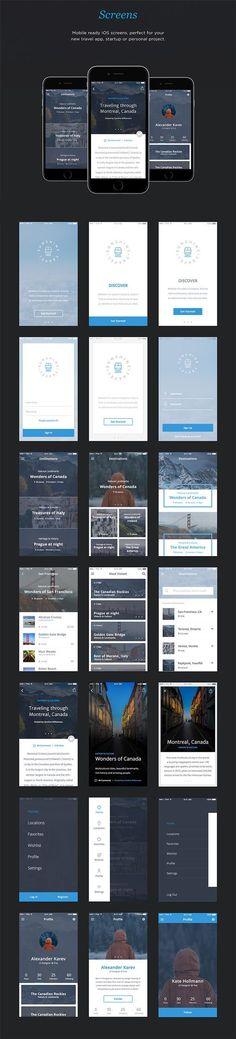 Free Download : Travel App UI Kit (50 screens)