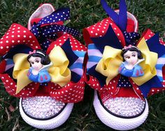 SNOW WHITE SHOES - Snow White Birthday - Snow White Party - Swarovski Crystals - Sparkle Toes - Pink Converse - Infant/Toddler/Youth
