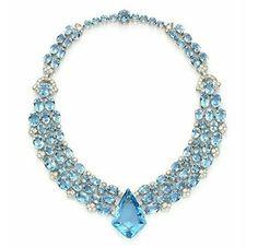 An Art Deco Aquamarine and Diamond Necklace, circa 1938 - By Cartier