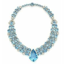 An Art Deco Aquamarine and Diamond Necklace, circa 1938 - By Cartier