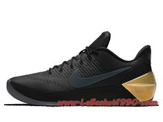 factory price 72b50 3e16f Nike Kobe A.D. Chaussures Nike Basket Pas Cher Pour Homme Noir Or