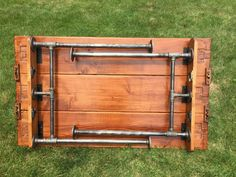 Steel Pipe Folding Table by ModernIndustrialist on Etsy