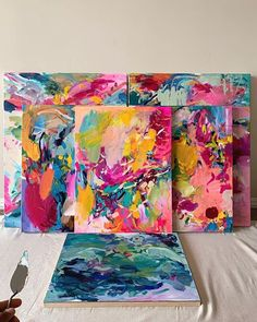 How to Make Your Acrylics Look Like Oils — Amira Rahim Abstract Canvas Art, Oil Painting Abstract, Canvas Art Projects, Colorful Paintings, Art Techniques, Painting Inspiration, Collage Art, New Art, Watercolors