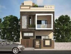 Independent House for sale in Niwaru Road 3 Storey House Design, Bungalow House Design, House Front Design, Small House Design, Modern House Design, Door Design, Exterior Design, House Elevation, Front Elevation