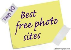 So you don't need to worry at all because in this artile i will tell the top 10 websites that provide you free images for your blog.