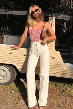 Summer Casual Date / Weekday Outfit 2019 Aesthetic Fashion, Look Fashion, Aesthetic Clothes, Fashion Outfits, Fashion Trends, Looks Vintage, Mode Inspiration, Looks Style, Cute Casual Outfits