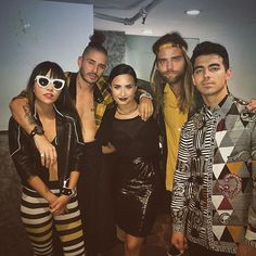 Pin for Later: Demi Lovato's Squad Is Who We Want to Hang Out With  DNCE and Demi Lovato.