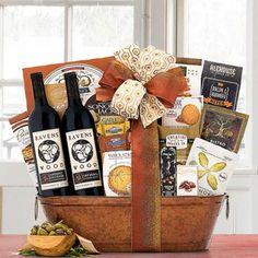 Wine Gift Baskets - Ravenswood Wine Gift Basket Wine Gift Baskets, Gourmet Gifts, California Wine, Wine Gifts, House Warming, Wines, Treats, Snacks, Birthday