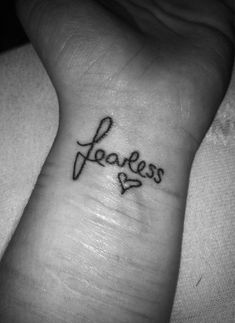 Fearless love.