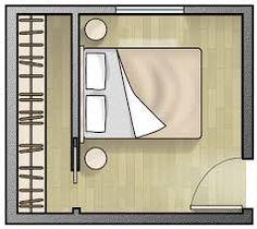 Risultati immagini per cabina armadio camera piccola quadrata