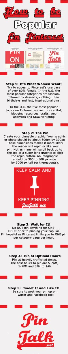 How to be popular on Pinterest #infographic