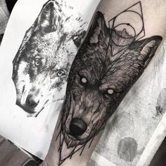 Wolf Tattoo on Forearm by Fredão Oliveira