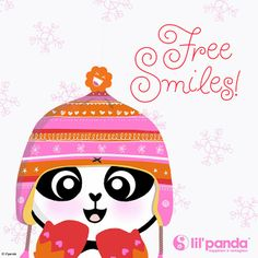 Happy Holiday panda #panda #Smile www.lilpanda.com