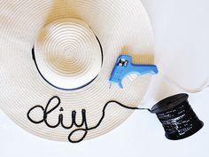DIY Eugenia Kim Inspired Sequin Floppy Hat