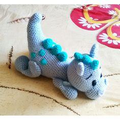 Vajk baba kicsi kék sárkánya - Haakpatroon Dirkje Draak mintája alapján Baba, Dinosaur Stuffed Animal, Toys, Animals, Animales, Animaux, Gaming, Games, Animais