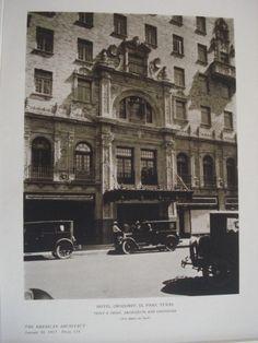 Exterior: Hotel Orndorff, El Paso TX, 1927. Trost & Trost. Lithograph