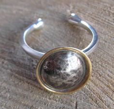 Eclipse Ring.  Galaxy Collection.  Sterling Silver and Bronze by ZaZing, NZ$85.00