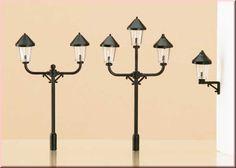 Kit de 6 lampi Retro, HO Auhagen 42631