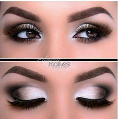Silver And Black Eye Shadow