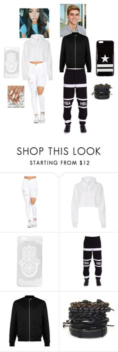"""""""M and j white and black"""" by jackgilinsk on Polyvore featuring Boohoo, Hood by Air, Topman and Givenchy"""