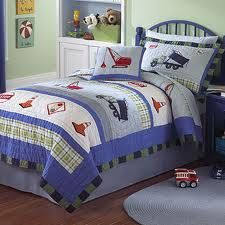Love this construction themed bedding for H
