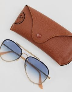 70be93811 Ray-Ban | Ray-Ban 0RB3584N Aviator Sunglasses With Blue Gradient Lens 58mm  Sunglasses