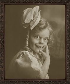 She is a freaky little girl......YIKES!...(Interesting blog--check it out.)