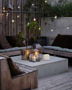 velas en la terraza, iluminar la terraza,