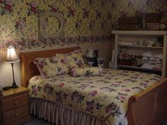 Hughes Inn B&B; Located in Van Wert, Ohio ~ like this bed decor in their French Country room