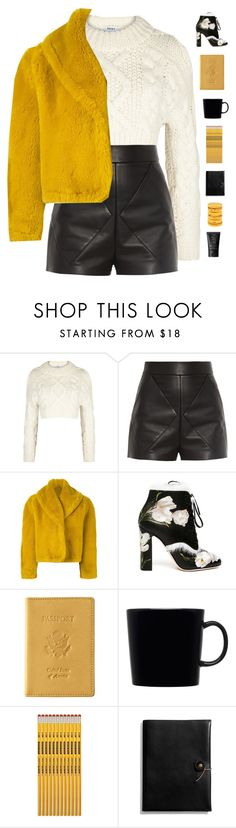 """""""Winter sweater ❄️"""" by genesis129 ❤ liked on Polyvore featuring DKNY, Balenciaga, Jean-Paul Gaultier, Dolce&Gabbana, Royce Leather, iittala, Coach, NARS Cosmetics and vintage"""