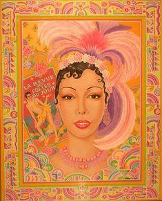 Josephine Baker, Portrait by Robert Quijada African American Artwork, African American Makeup, African American Hairstyles, African American History, Josephine Baker, Missouri, Coloured Girls, Paris, Wedding Humor